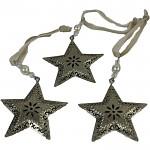 Kovová hvězda závěs - zlatá