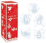 Bílý sníh ve spreji se šablonami - 150 ml