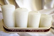 Adventní svíce - postupné - bílé třpytivé