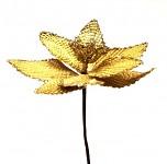 Květ poinsettia zlatý - zápich