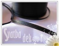 Saténová stužka 10mm - černá - 1m