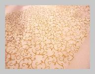 Vlizelín luxus - arabeska - zlatá - 1m