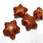 Hvězdička malá - rezavá glitter - 1ks