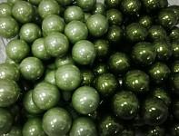 Baňky na drátku trávově zelené 20mm - 1ks - lesklé