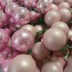Baňky na drátku pudrově růžové 20mm - 1ks - matné
