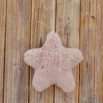 Hvězda plyš závěs - růžová