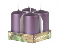 Adventní svíce - sv. fialové - malé