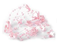Hvězdičky na silikonu - červené - 1m