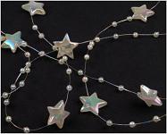 Hvězdičky na silikonu - perleťové - 1 m