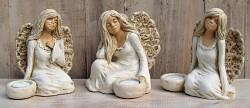 Anděl masiv -  svícen