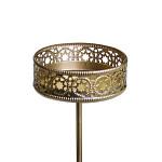 Bodec zlatý LUX pod svíčky - průměr 50 mm
