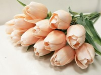 Tulipán umělý - krémovorůžový