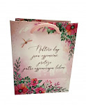 Dárková svatební taška  - stříbrné ornamenty a srdíčka