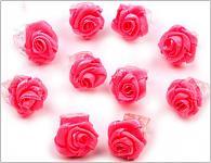 Skřipec do vlasů s malinovou růžičkou