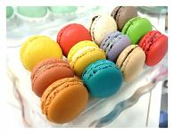 Makronky MIX - různé chutě a barvy - 50ks