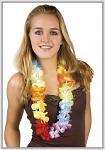 Havajský věnec - duhový
