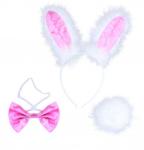 Maska - zajíček - bílo-růžový