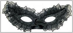 Karnevalová škraboška krajková - černá