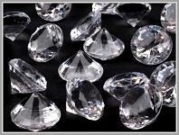 Broušené diamanty velké -  čiré II. - 45ks