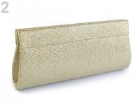 Společenská kabelka - lurexová zlatá