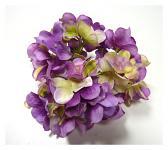 Vazbový květ hortenzie - fialovo-krémový