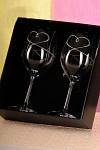 Svatební skleničky na víno - srdce s elementy Swarowski