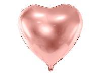 Foliový balonek srdce rosegold - 61 cm