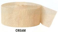 Krepová stuha - krémová - 24m