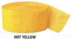Krepová stuha - žlutá - 25 m