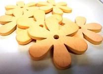 Dřevěné kytičky - meruňkové - 9 ks