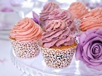 Košíček na dortíky (muffin) - ornament bílý - 10ks