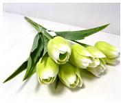 Tulipán umělý - krémovozelený