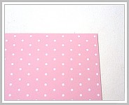 Tvrdý grafický papír - růžový s puntíky - A4