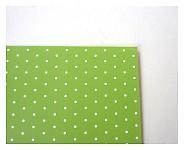 Tvrdý grafický papír - zelený s puntíky - A4
