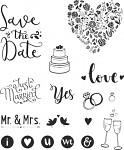 Razítka gumová - svatební motivy
