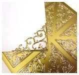 Kontury samolepicí - rohy zlaté velké