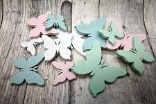 Dřevění motýlci pastelový mix - 12 ks