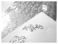 Kontury samolepicí - růže v pruhu - stříbrné