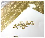 Kontury samolepicí - růže v pruhu - zlaté