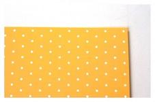 Tvrdý grafický papír - žlutý s puntíky - A4