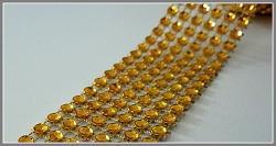 Diamantový pás - 3cm/1m - zlatý