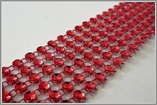 Diamantový pás - 10cm/1m - červený