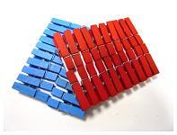 Kolíčky červené dřevěné  35 mm - 20 ks