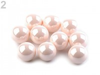 Dekorační perly - pudrově růžové lesklé - 50 ks