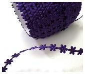 Květinky tm.fialové malé - metráž