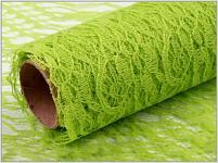 Krajka dekorační zelená - 50cm /4,5m