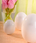 Vajíčko bílé keramické - 12 cm