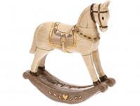 Houpací koník polyrezin - stříbrný - 15 cm