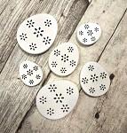 Dřevěné vejce bílé kraslice - 6 ks