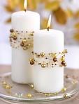 Perličky na silikonu - zlaté světlé malé